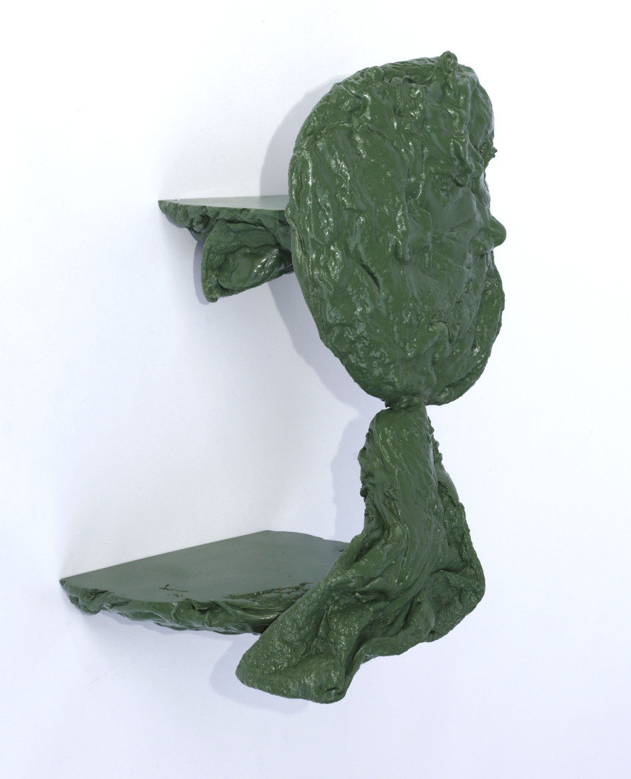 "Photograph of the work ""Purged Plastic Plinth"""